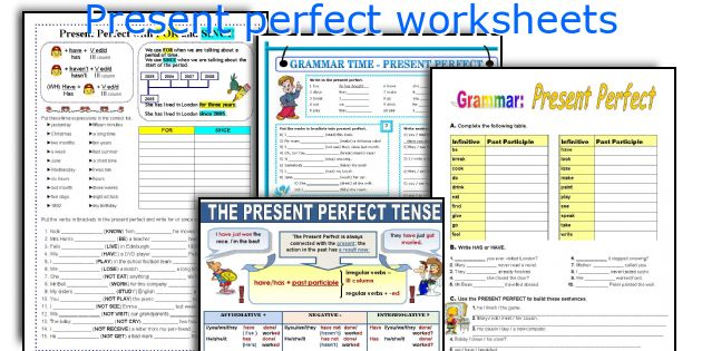 English teaching worksheets: Present perfect