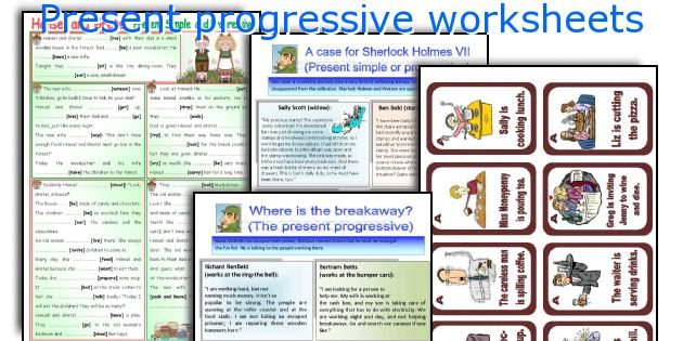 Present progressive worksheets