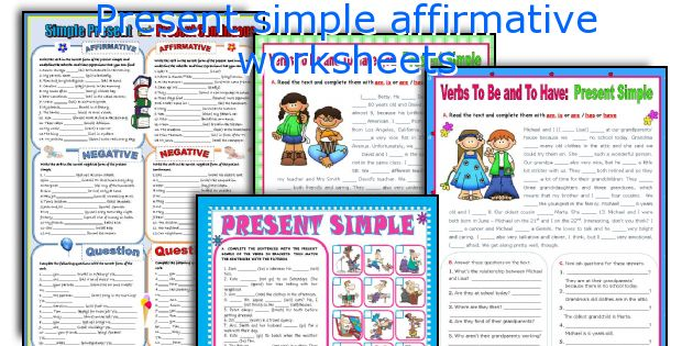 Present simple affirmative worksheets