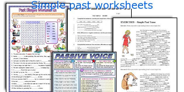 Simple past worksheets