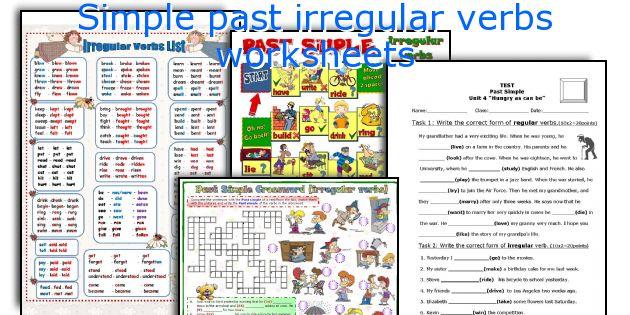 Simple Past Irregular Verbs Worksheets. Worksheet. Simple Worksheets At Mspartners.co