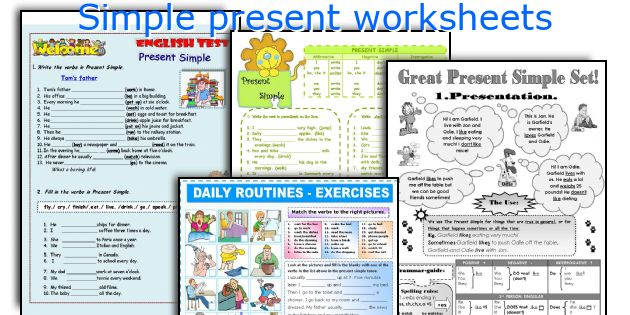 Simple present worksheets