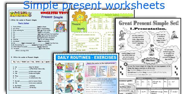 english teaching worksheets simple present. Black Bedroom Furniture Sets. Home Design Ideas