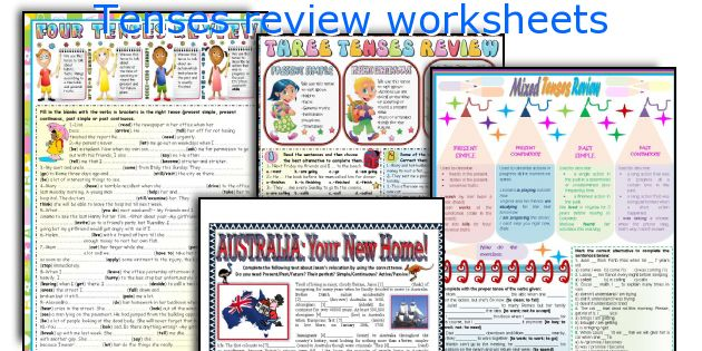 Tenses review worksheets
