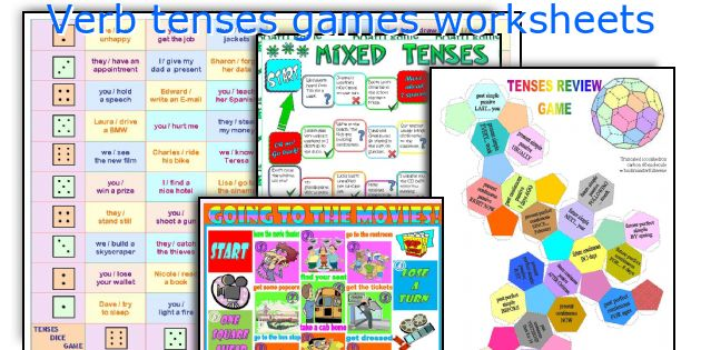 Verb tenses games worksheets