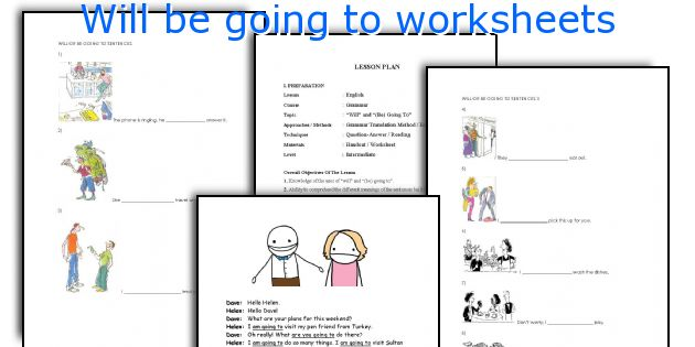 English teaching worksheets: Will be going to