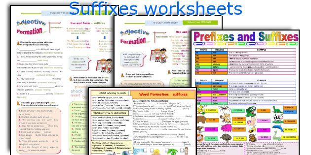 English teaching worksheets: Suffixes
