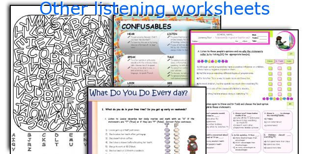 Other listening worksheets