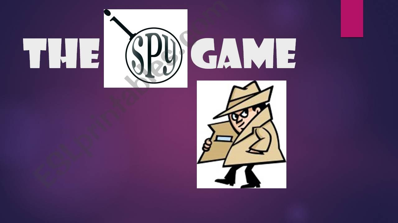 The Spy Game powerpoint