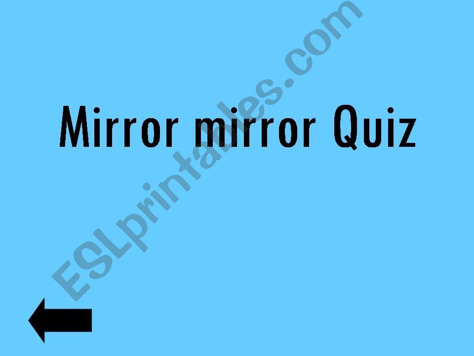 Mirror mirror snow white quiz powerpoint