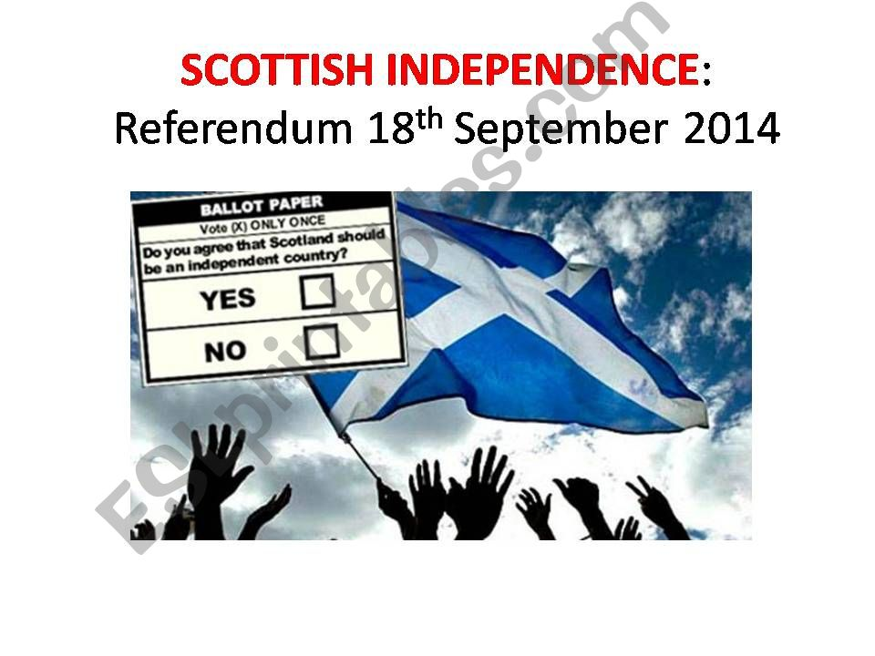 Scottish Independence powerpoint