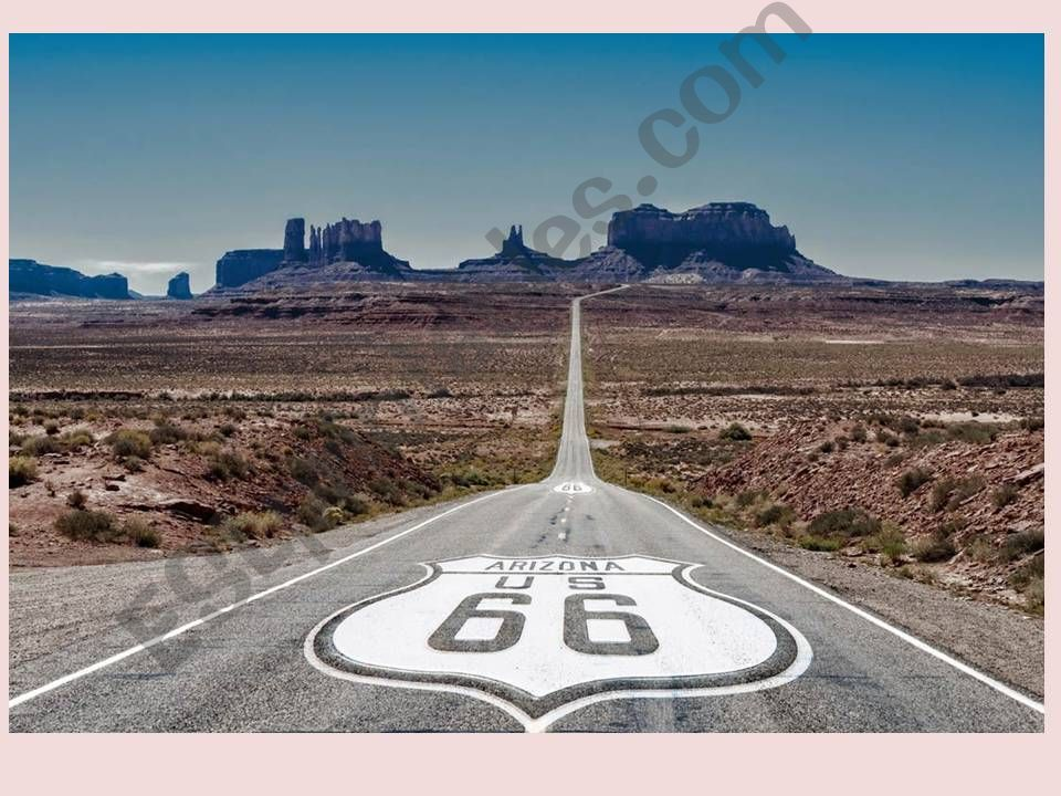 Route 66 song and map powerpoint