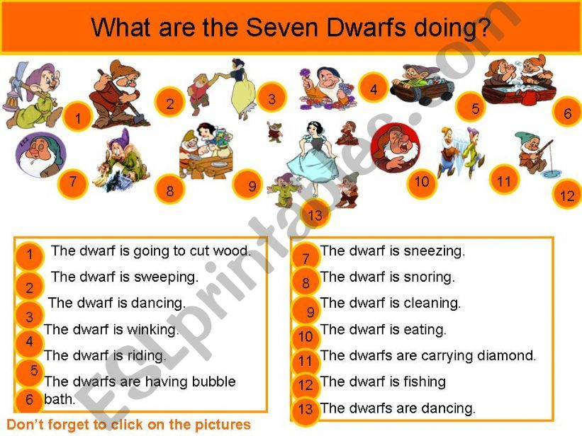 What are dwarfs doing? powerpoint