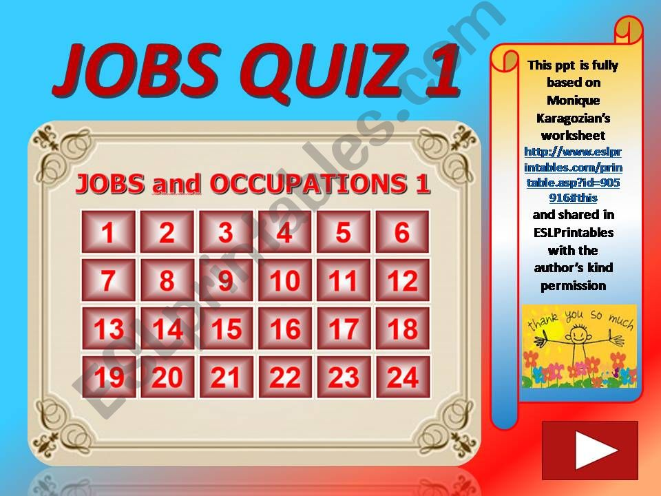 Esl English Powerpoints Jobs And Occupations Quiz 1 Out Of 4