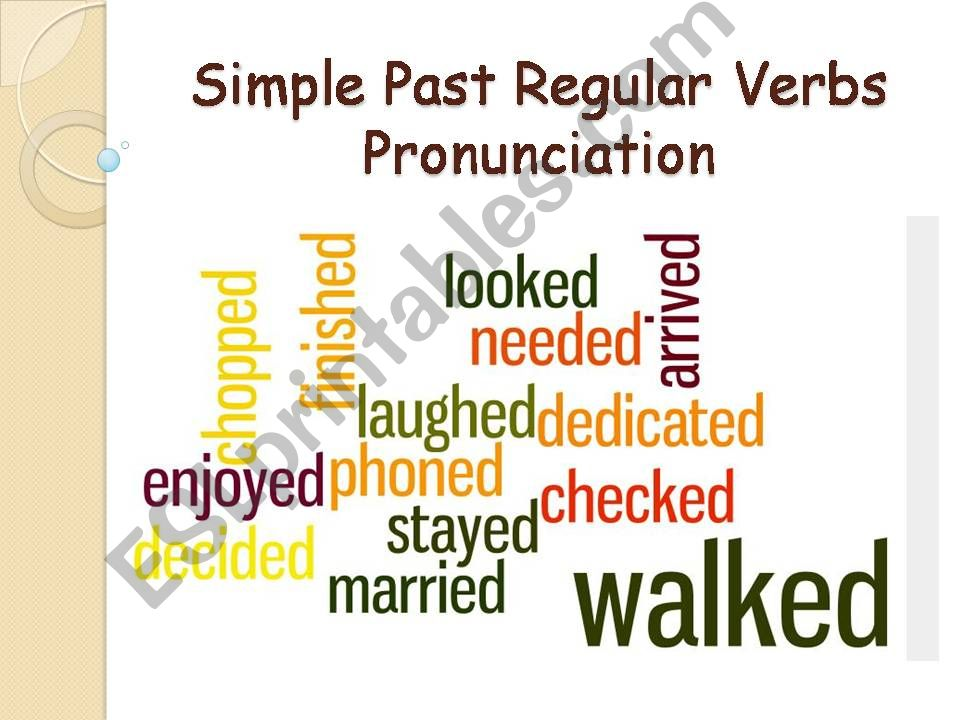 Simple Past Regular Verbs Pronunciation