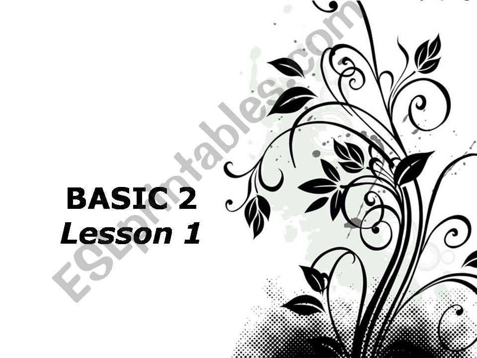 BASIC CONVERSATION powerpoint
