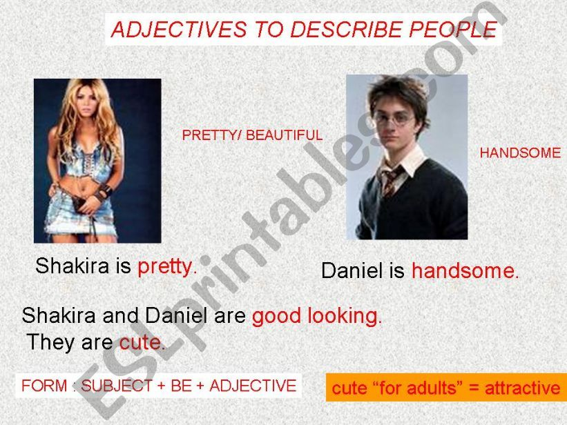 Adjectives to describe physical appearance