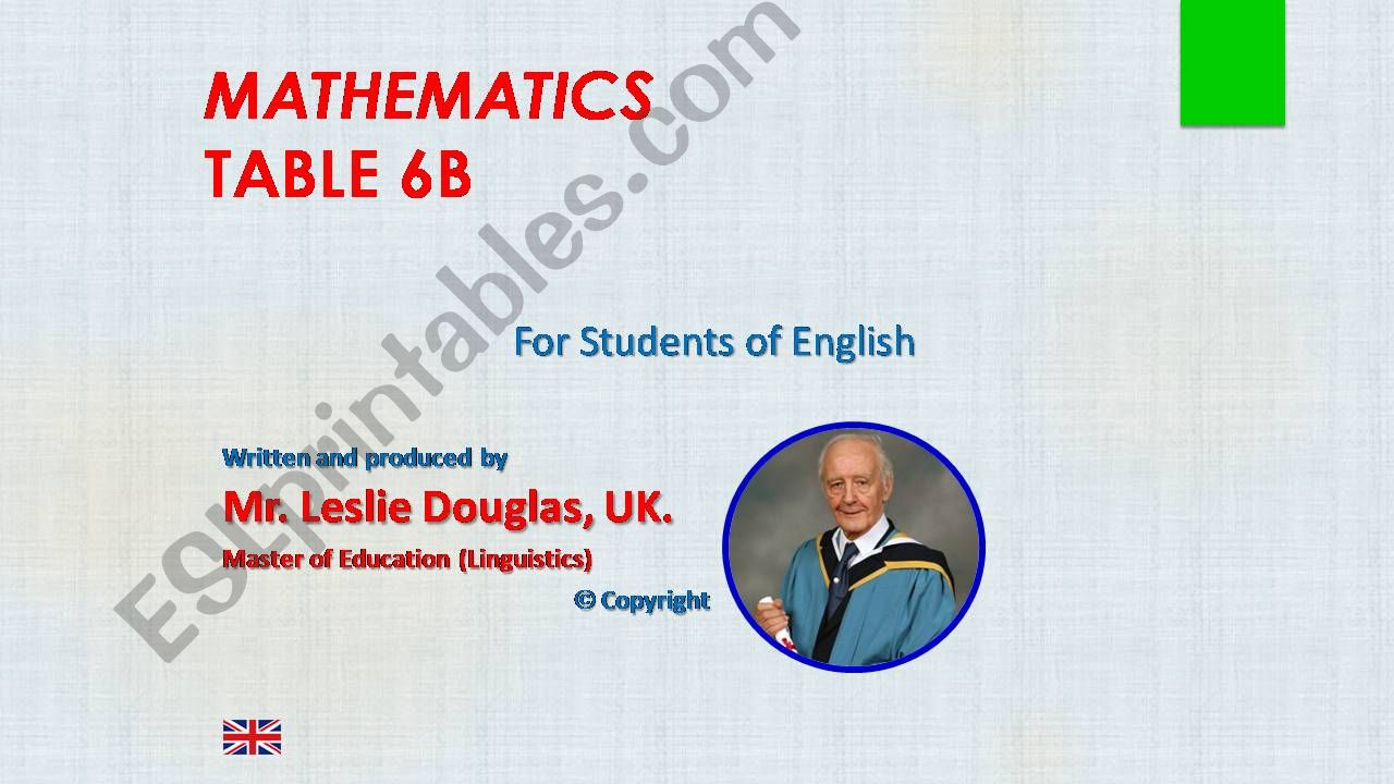 Times Tables, 6B powerpoint
