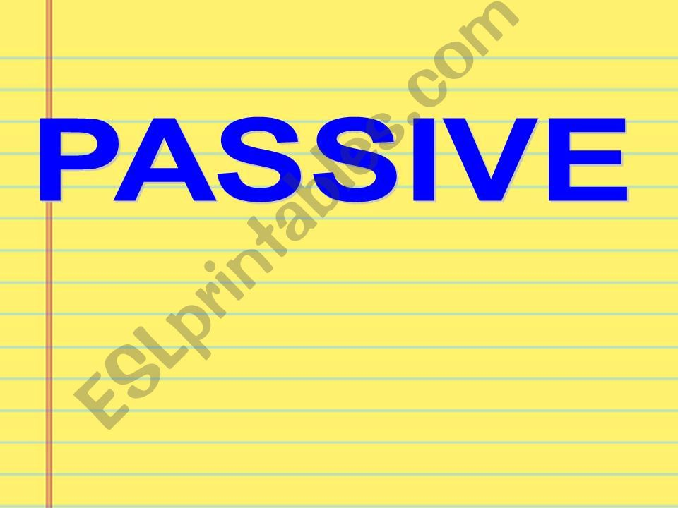Passive Voice in 3 simple steps