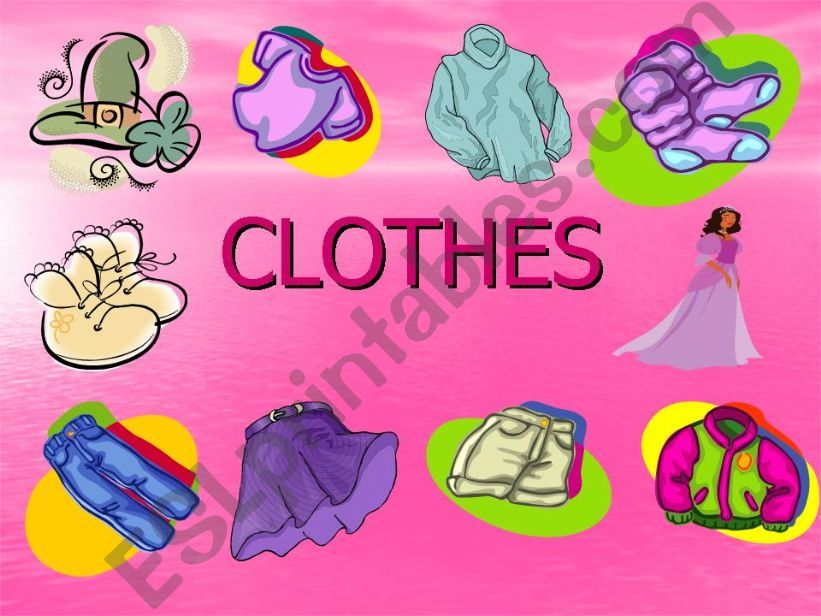 CLOTHES.EXERCISE VERSION powerpoint