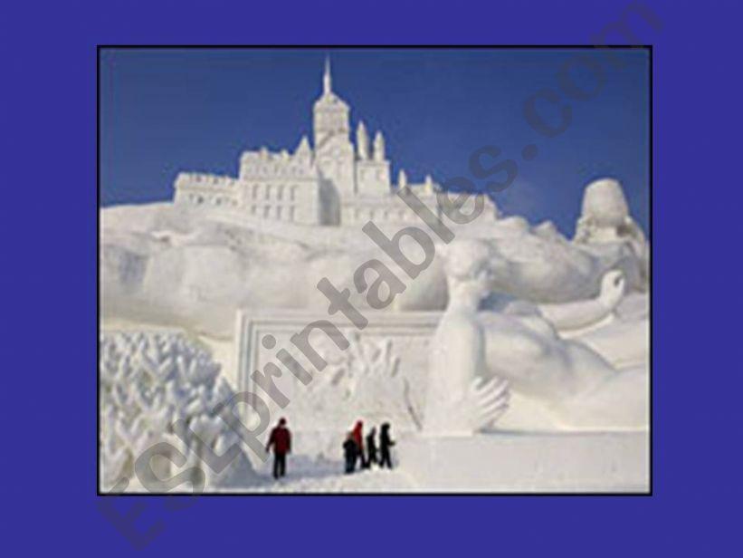 Ice sculptures powerpoint