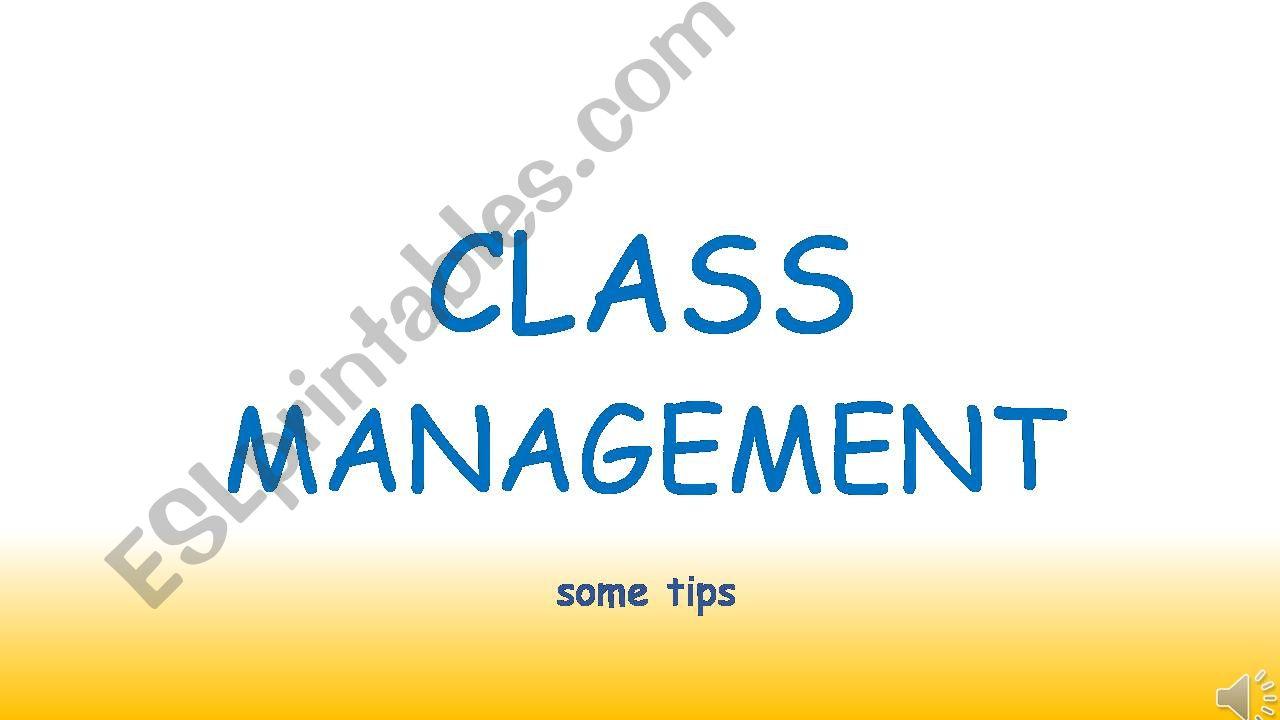class management tips powerpoint