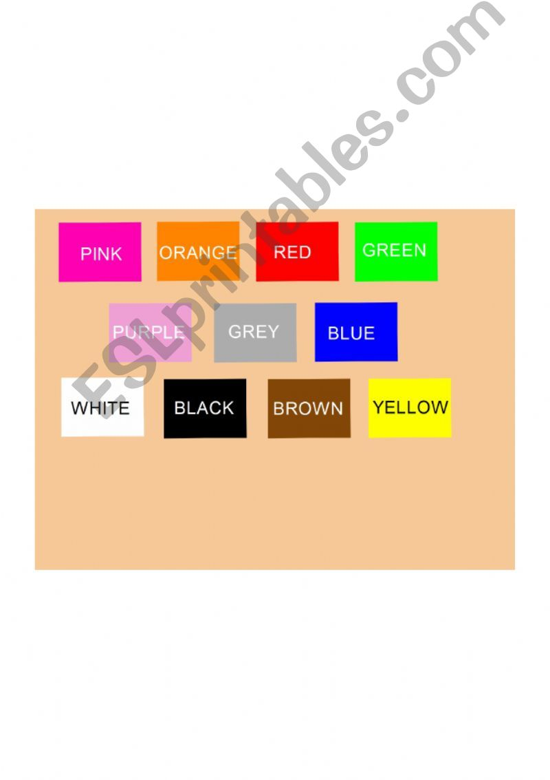 Colours introduction powerpoint