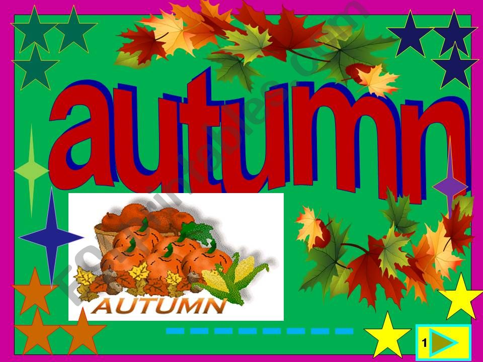 Autumn is back powerpoint