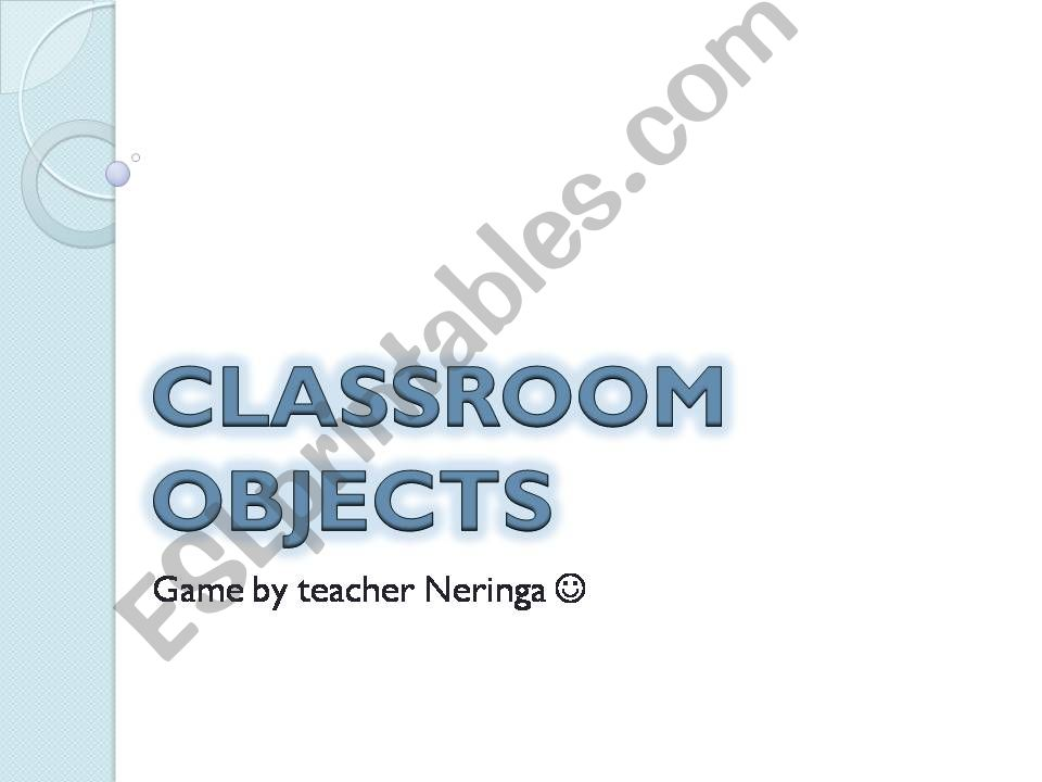 Classroom objects PPT jumping game