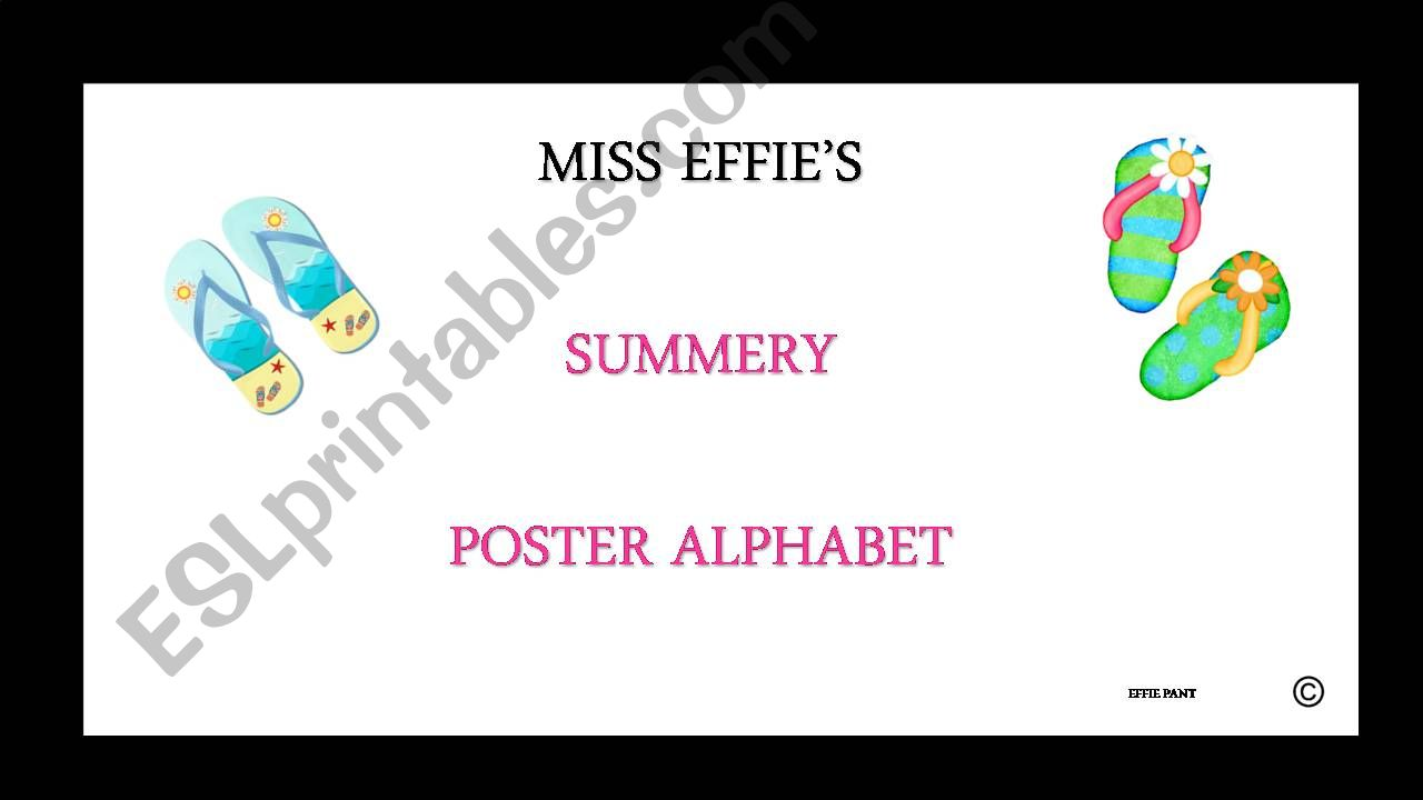 ALPHABET POSTER CARDS powerpoint