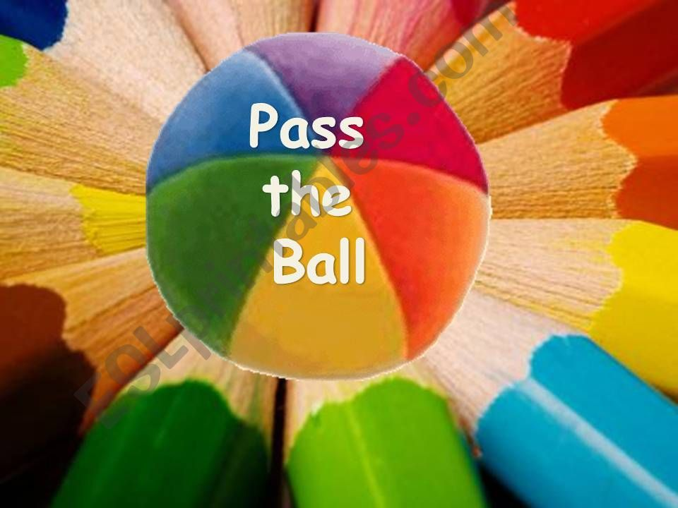 Pass the ball with countries´ flags