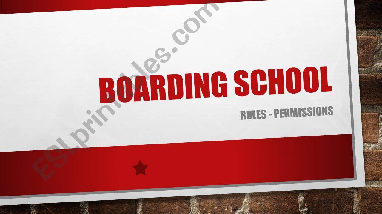 rules in  a boarding school powerpoint