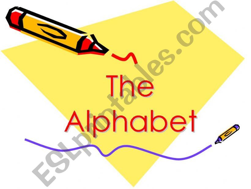 The alphabet in pictures (from A to N)