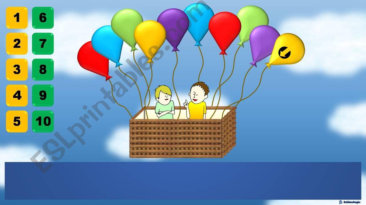 Balloon Game - Conversation powerpoint