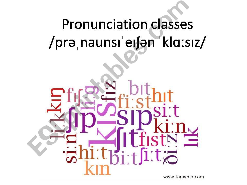 ESL - English PowerPoints: Introduction to English pronunciation