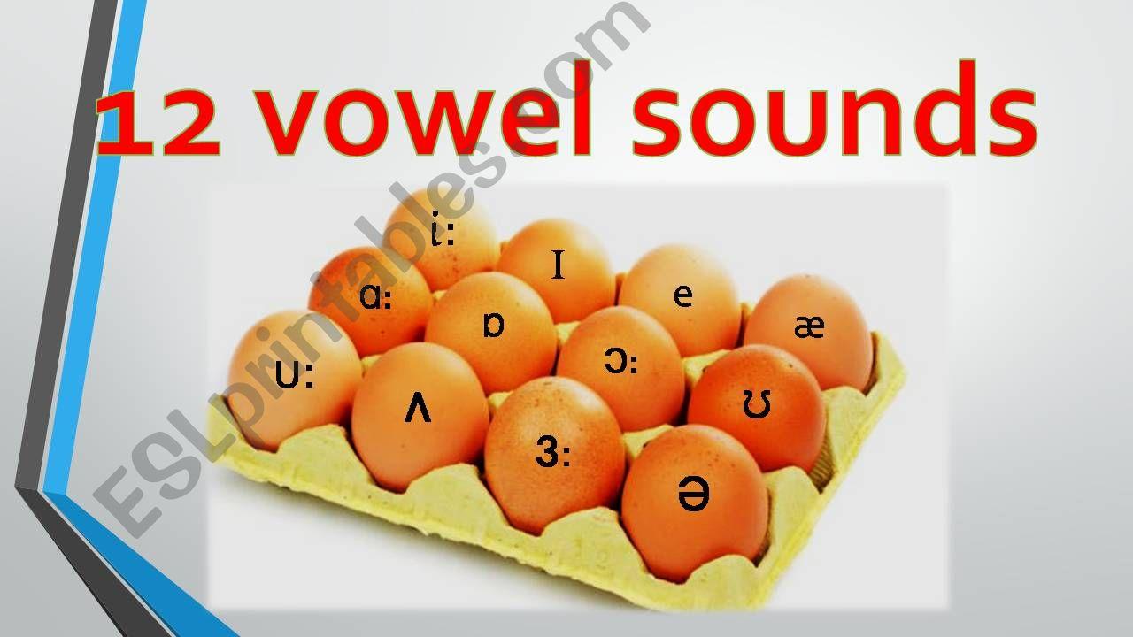 12 vowel sounds powerpoint