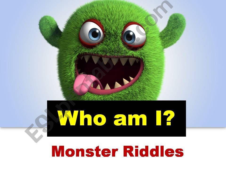 Monster Riddles powerpoint