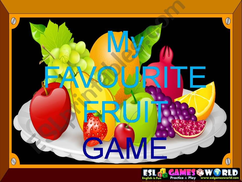 Fruit game powerpoint