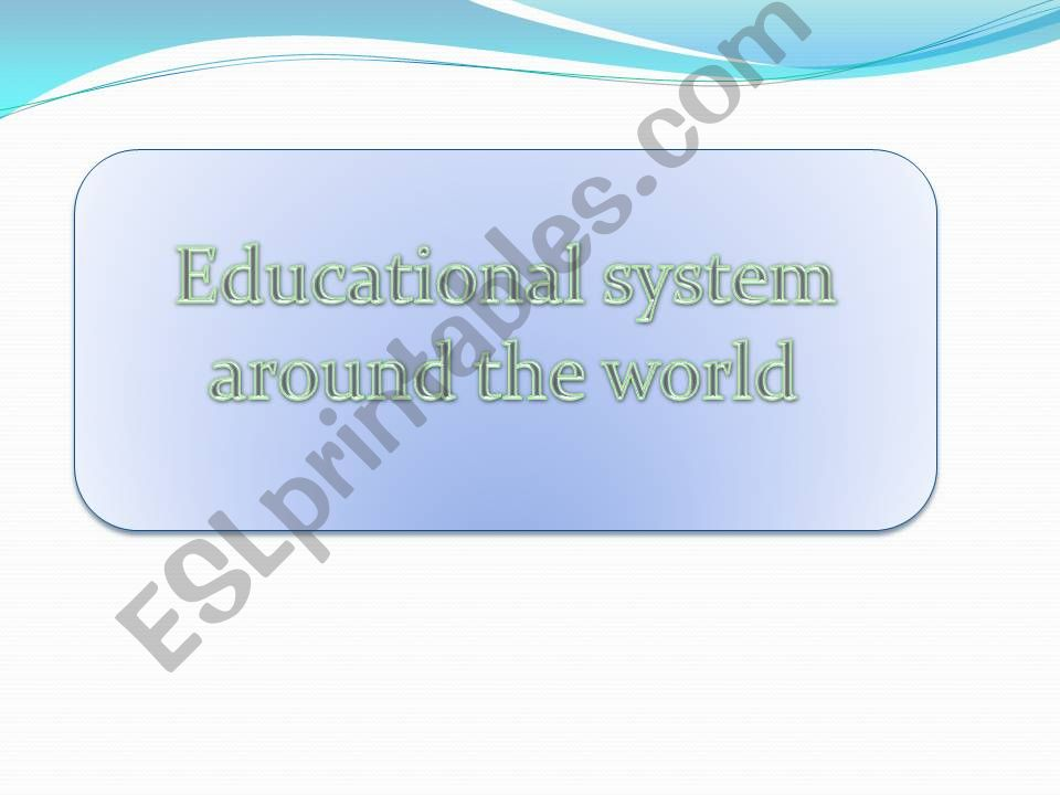 educatinal system in britain powerpoint