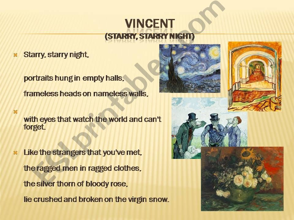 #4 of 4 VanGogh and song