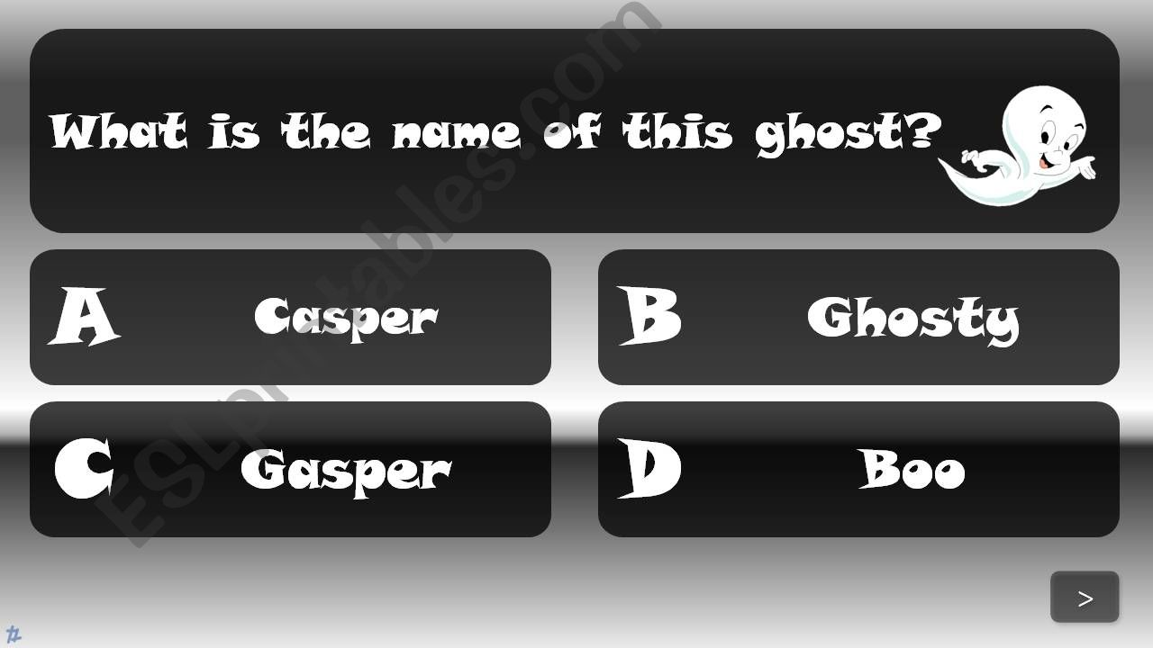 ESL - English PowerPoints: Halloween Quiz with sound effects