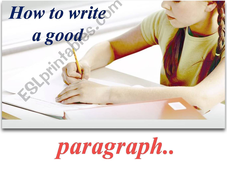 How to write a simple paragraph of four sentences