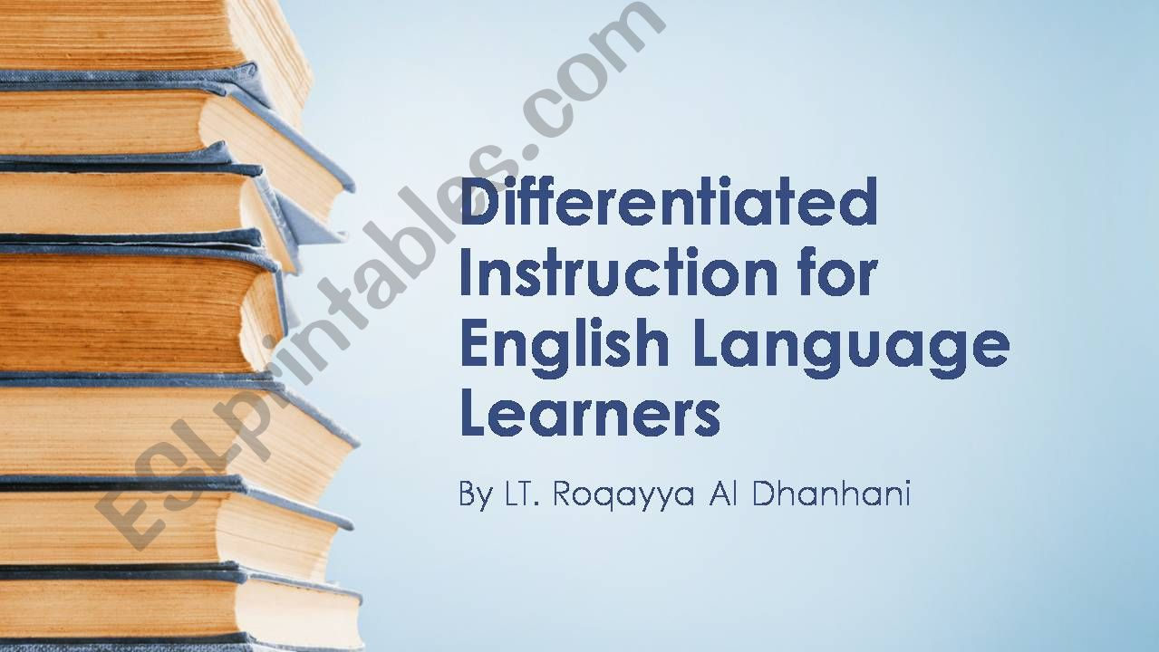 Differentiated Instructions for English Language Learners