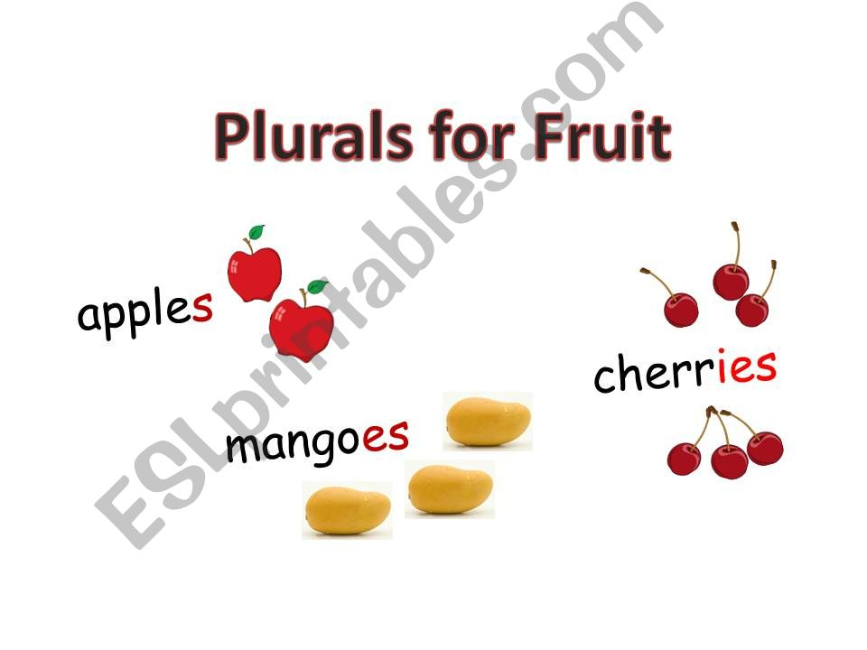 plurals for fruit powerpoint