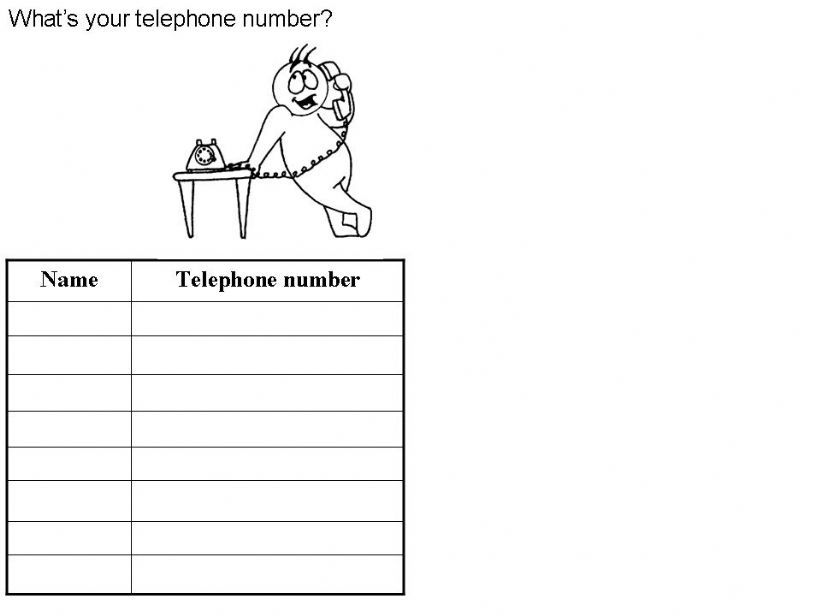 Telephone numbers powerpoint