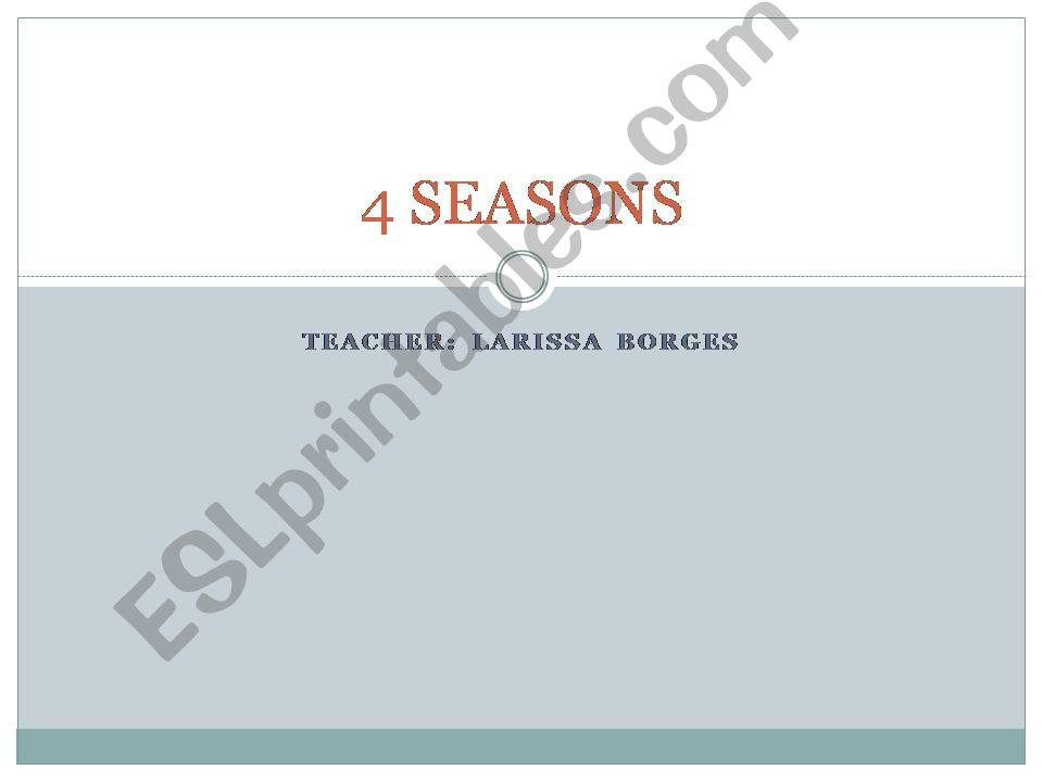 The 4 Seasons powerpoint
