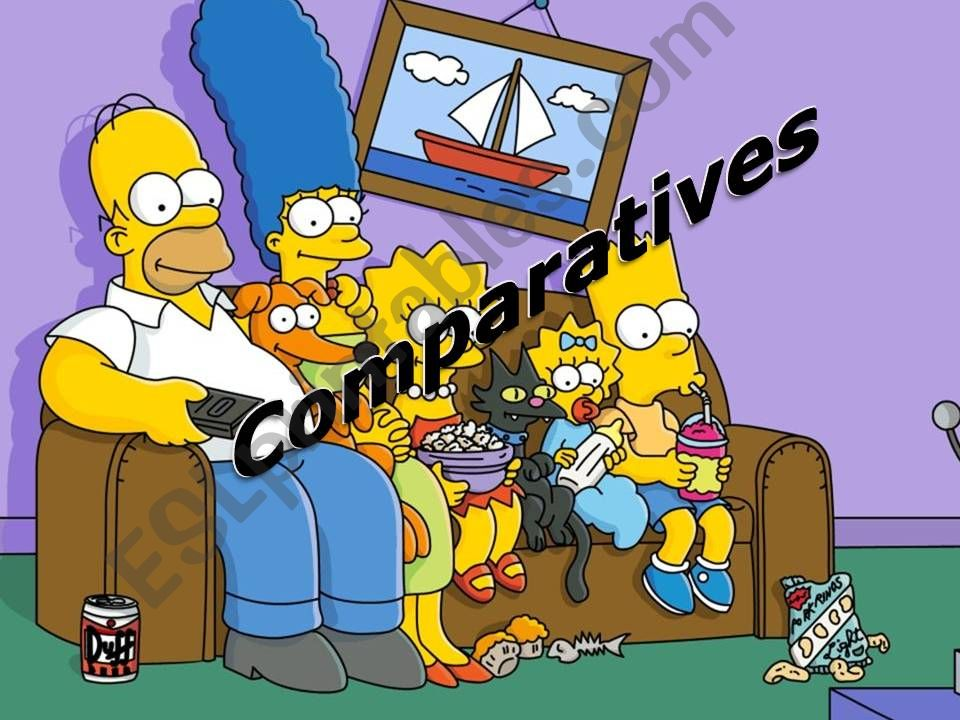 Comparatives - The Simpsons powerpoint
