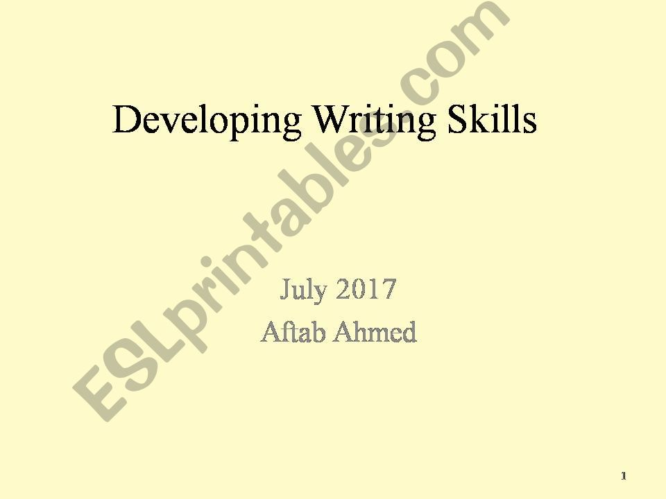 writing development skills powerpoint