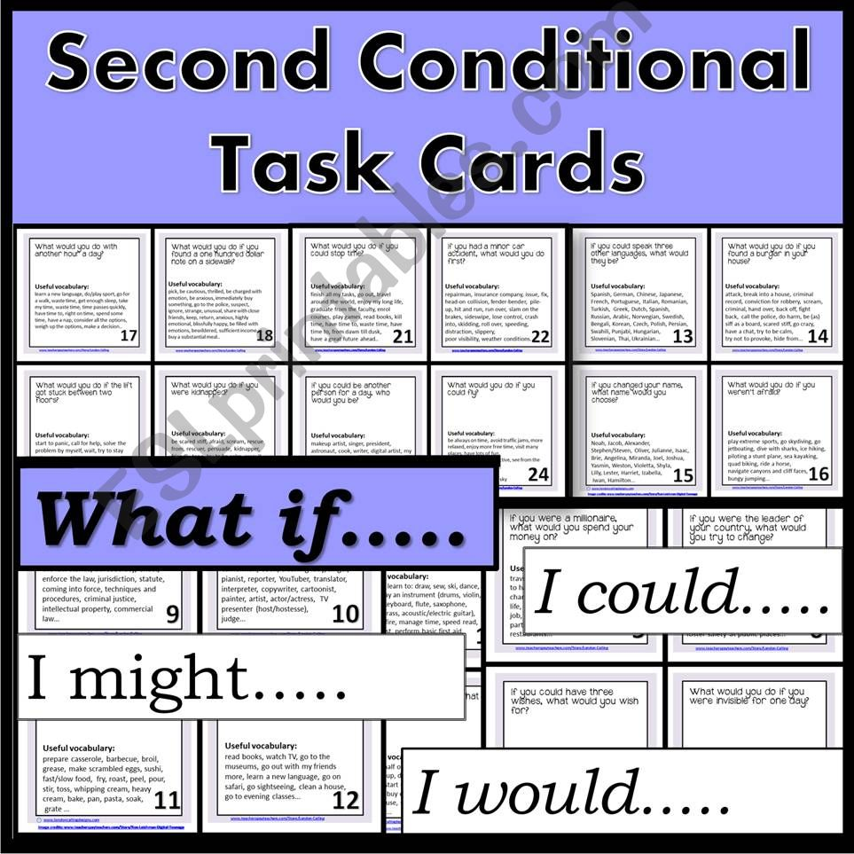 Second Conditional - Task Cards - Speaking Exercise