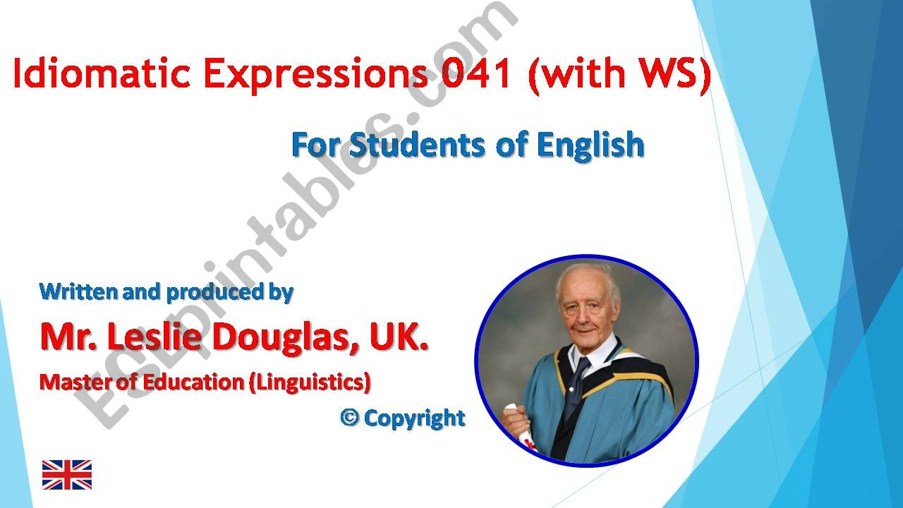 PPT 041 Idiomatic Expressions On all Fours with WS